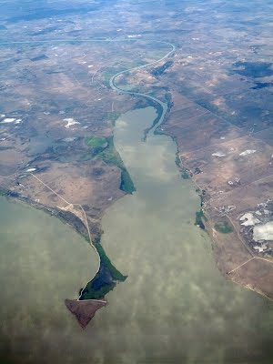 River Murray meets Lake Alexandrina at Pomanda Island